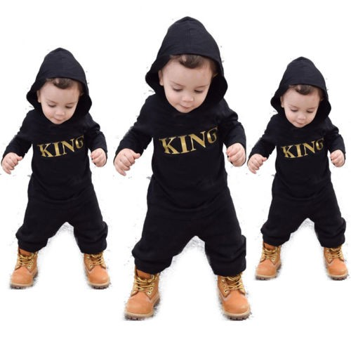 ef9eec4bfc16 US Newborn Infant Baby Boy Kid King Romper Jumpsuit Bodysuit Clothes ...