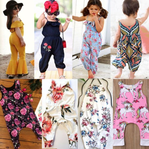 4ec83371b4d8 Newborn Kids Baby Girl Floral Romper Jumpsuit Playsuit Clothes ...
