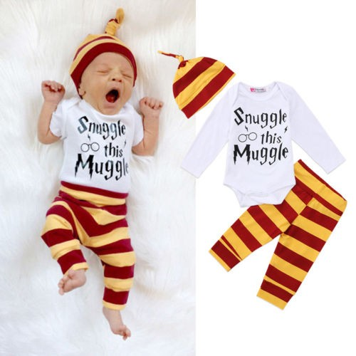 224ae50f2 US Stock Newborn Baby Boys Girl Harry Potter Clothes Romper Pants ...