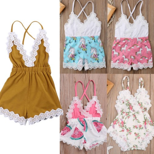 bbd7e4c2f US Canis Newborn Baby Girl Lace Romper Jumpsuit Bodysuit Outfits ...