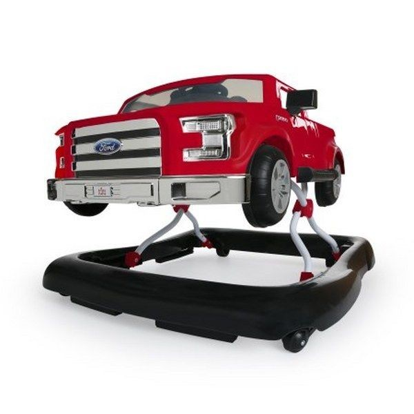 eb78e994e557 Bright Starts 3 Ways To Play Baby Walker Ford F 150 Red Push Behind ...