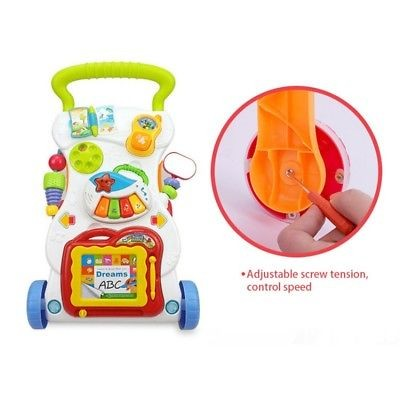 efadfaf70 Kids Baby Activity Prewalker First Steps Bouncer Toy Trolley Sit-to ...