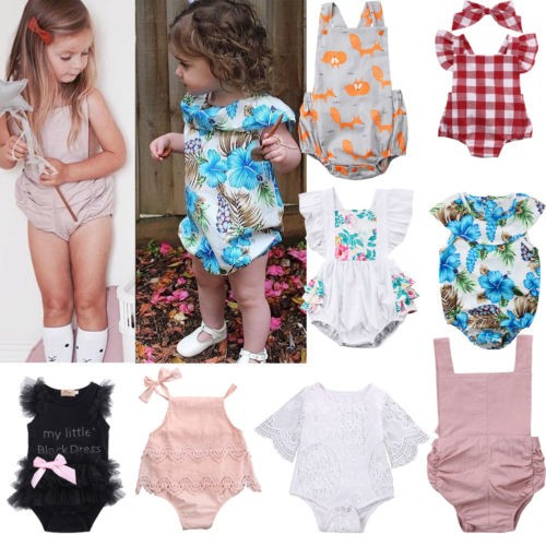e8cf48f9df2 Newborn Infant Baby Girl Romper Bodysuit Jumpsuit Outfits Summer Clothes  Custome