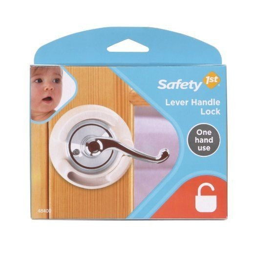 Safety 1st French Door Lever Handle Baby Proof Child Lock One Hand Use 72304